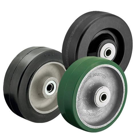 Hard, soft, and medium hardness tread wheels
