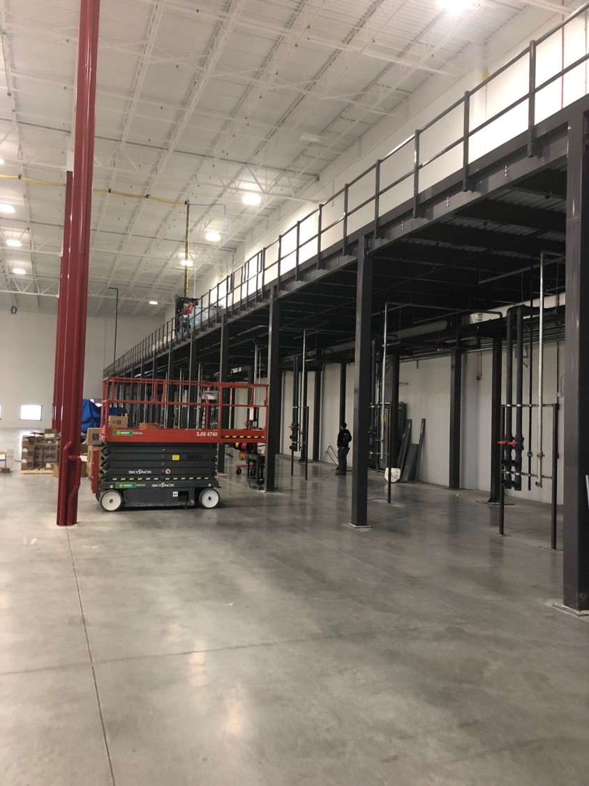 Prefabricated Steel Mezzanine Saves Manufacturer Time